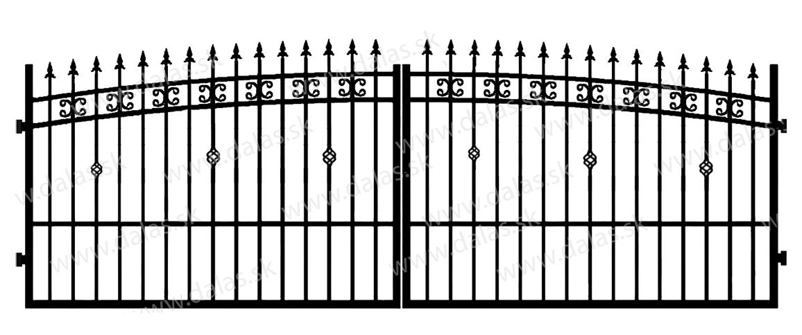 Kovová brána K3