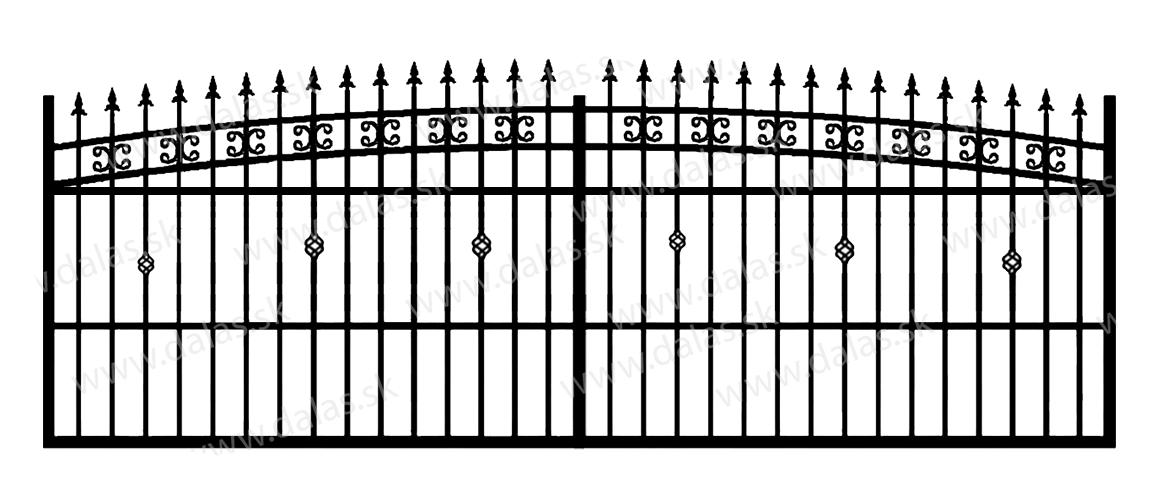 Koľajová kovová brána K3