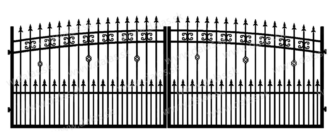 Kovová brána K3+