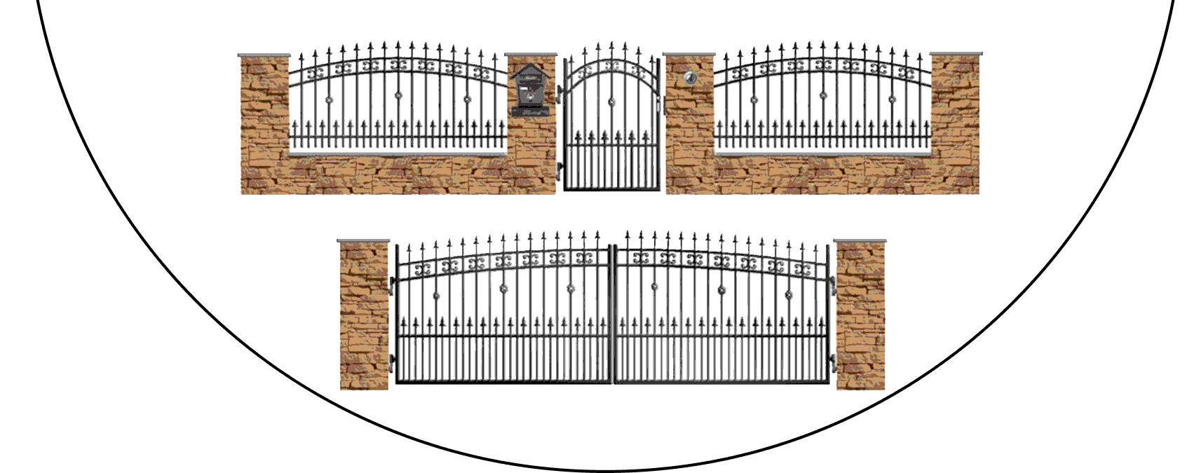 Zostava kovových plotov K3+