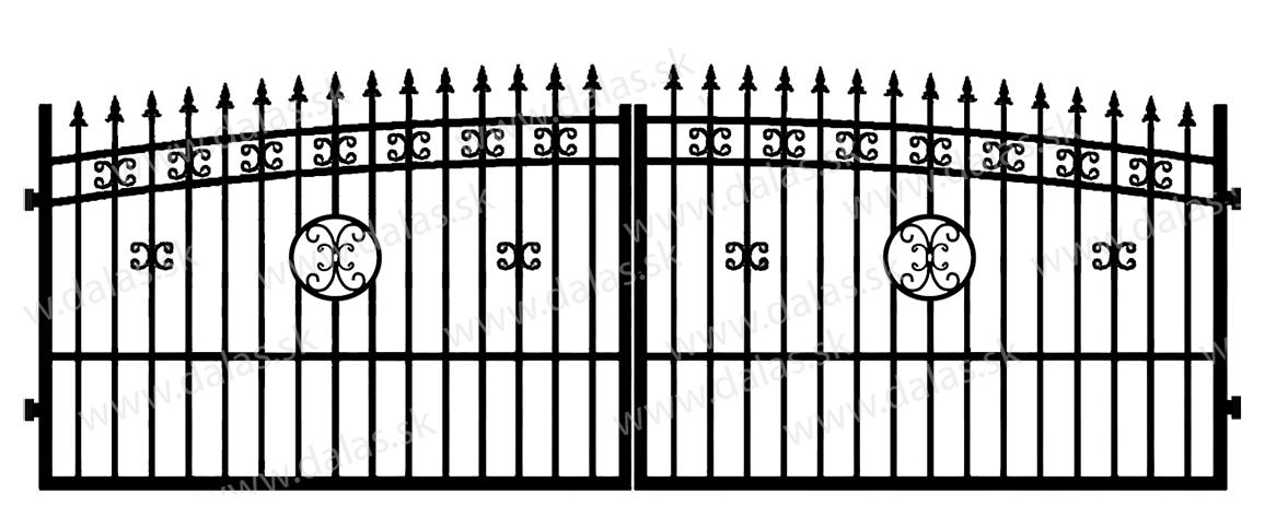 Kovová brána K4