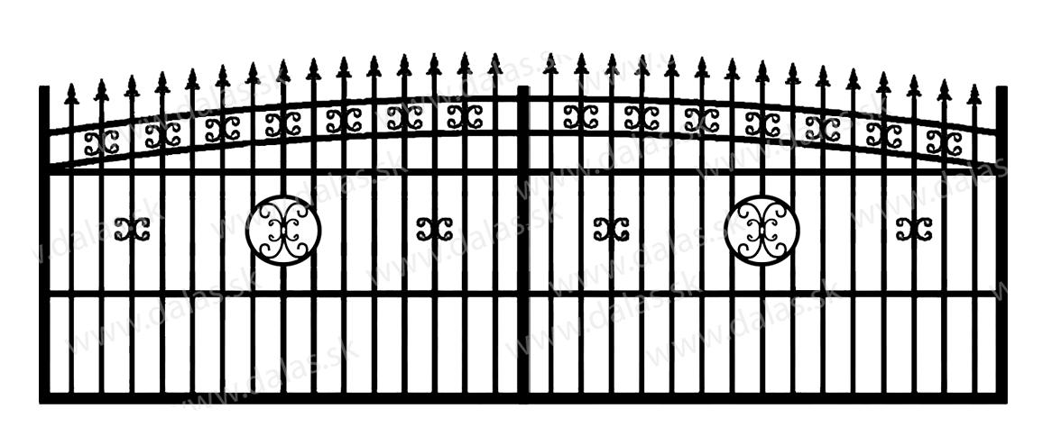 Koľajová kovová brána K4