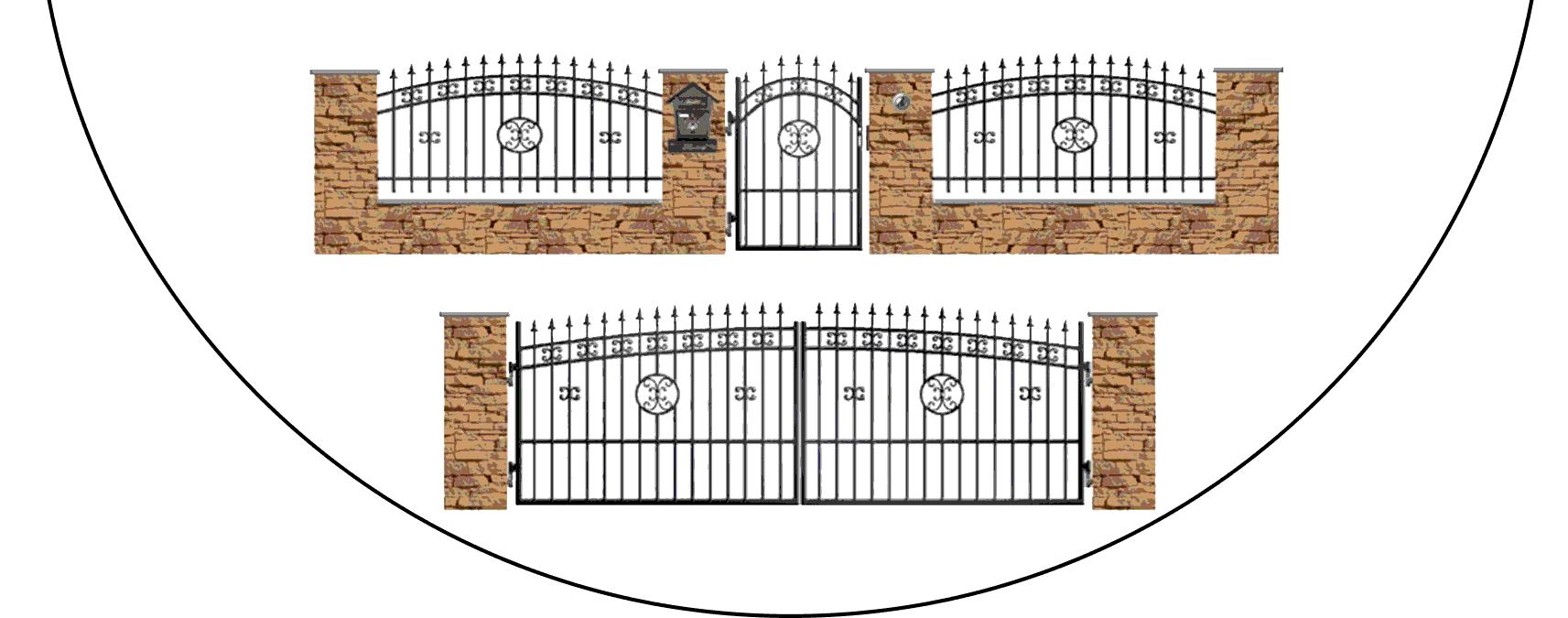 Zostava kovových plotov K4