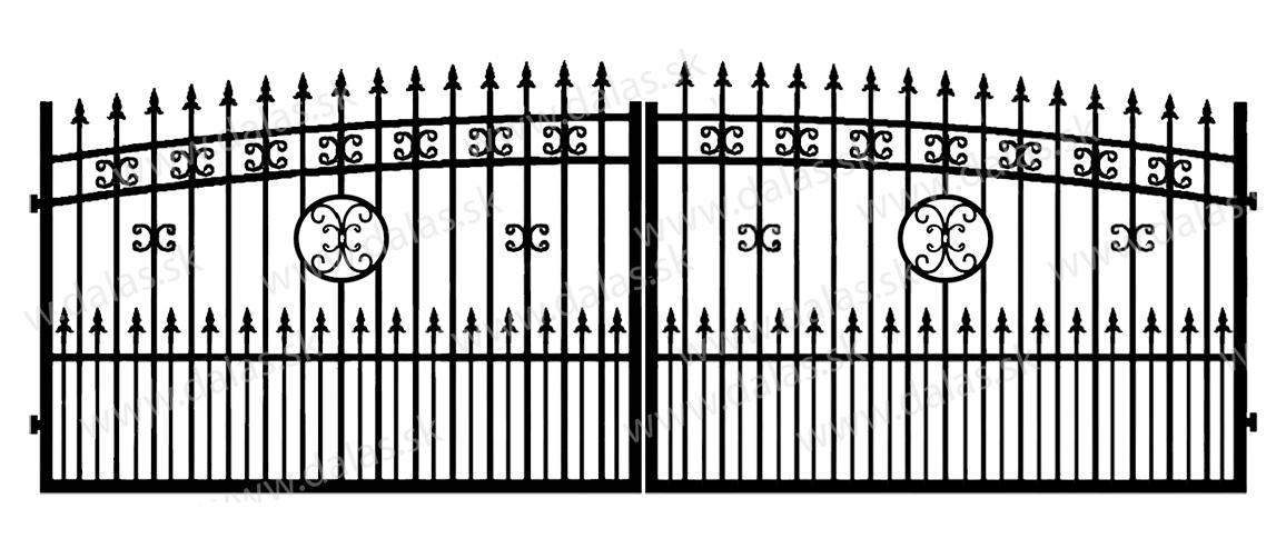 Kovová brána K4+