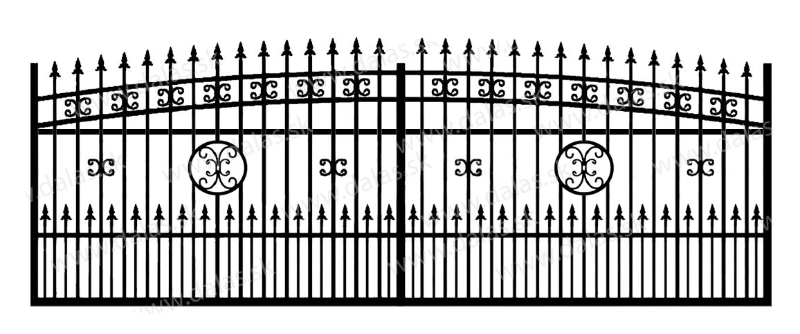 Koľajová kovová brána K4+