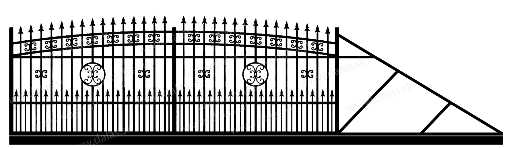 Samonosná posuvná kovová brána K4+