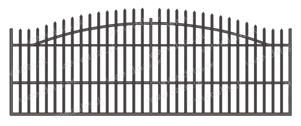 Koľajová kovová brána V