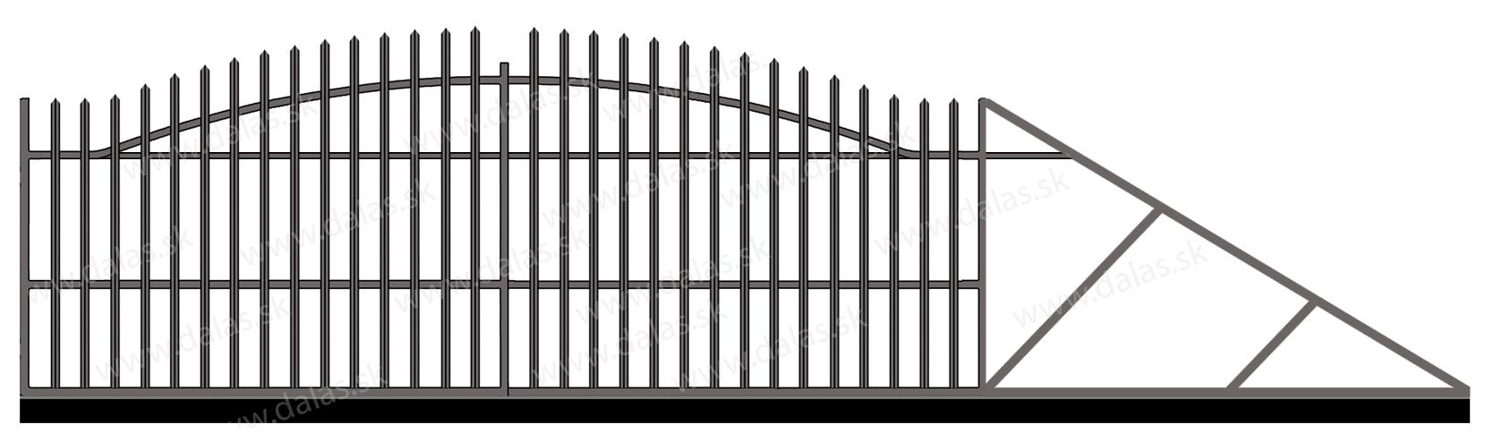 Samonosná posuvná kovová brána V