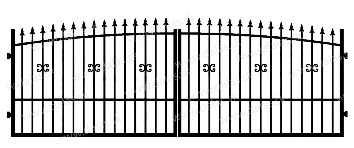 Kovová brána Z1