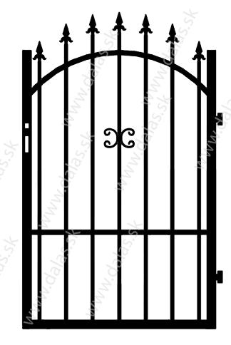 Kovová bránka Z1