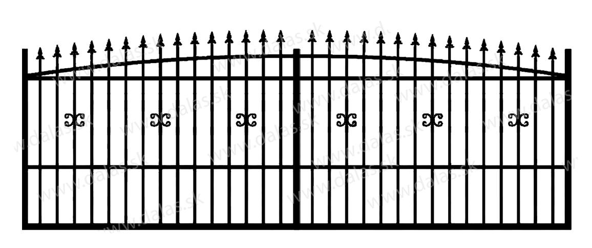 Koľajová kovová brána Z1