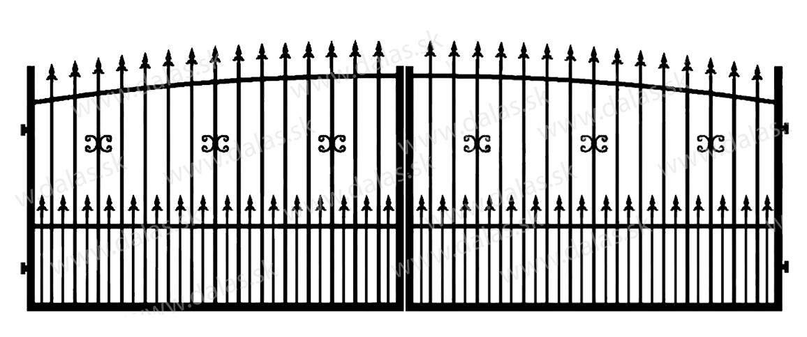 Kovová brána Z1+