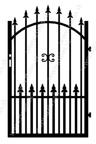 Kovová bránka Z1+