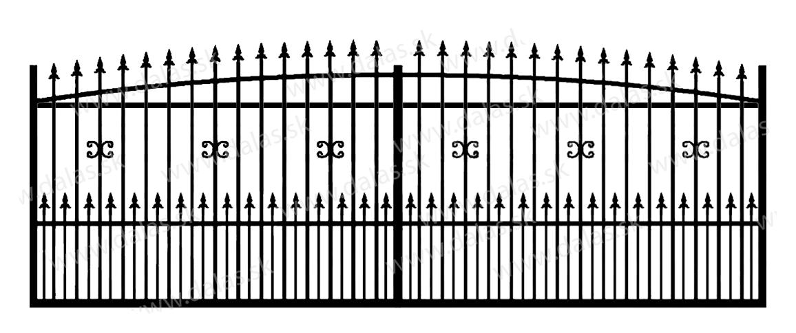 Koľajová kovová brána Z1+