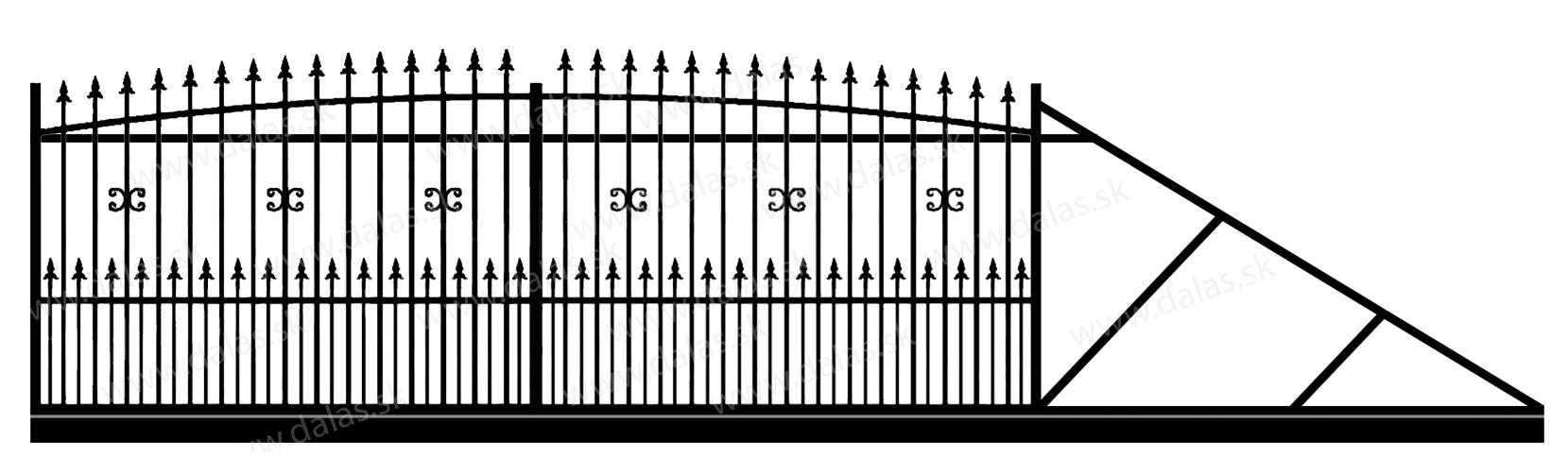 Samonosná posuvná kovová brána Z1+