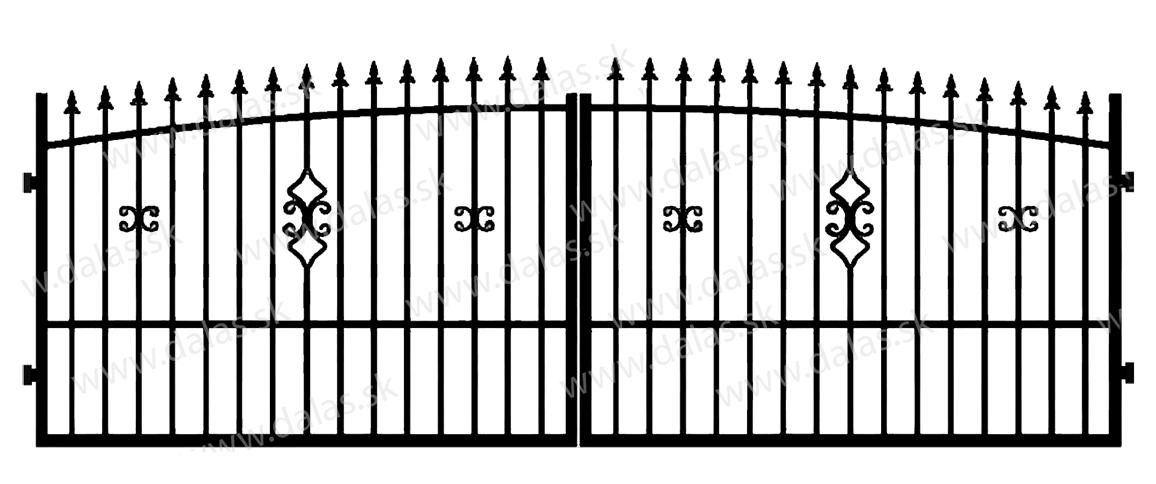 Kovová brána Z2