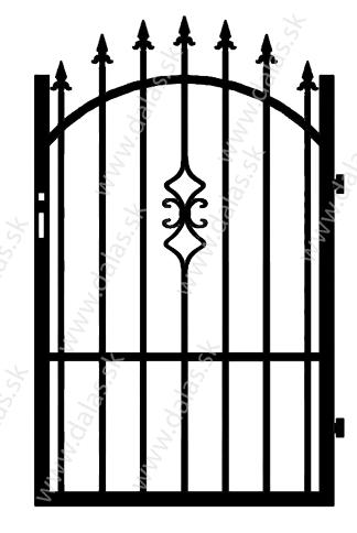 Kovová bránka Z2