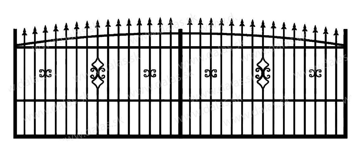 Koľajová kovová brána Z2