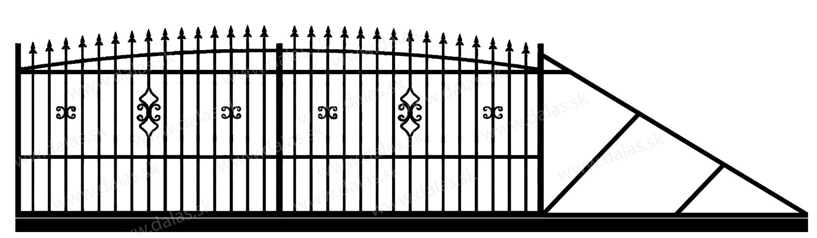 Samonosná posuvná kovová brána Z2