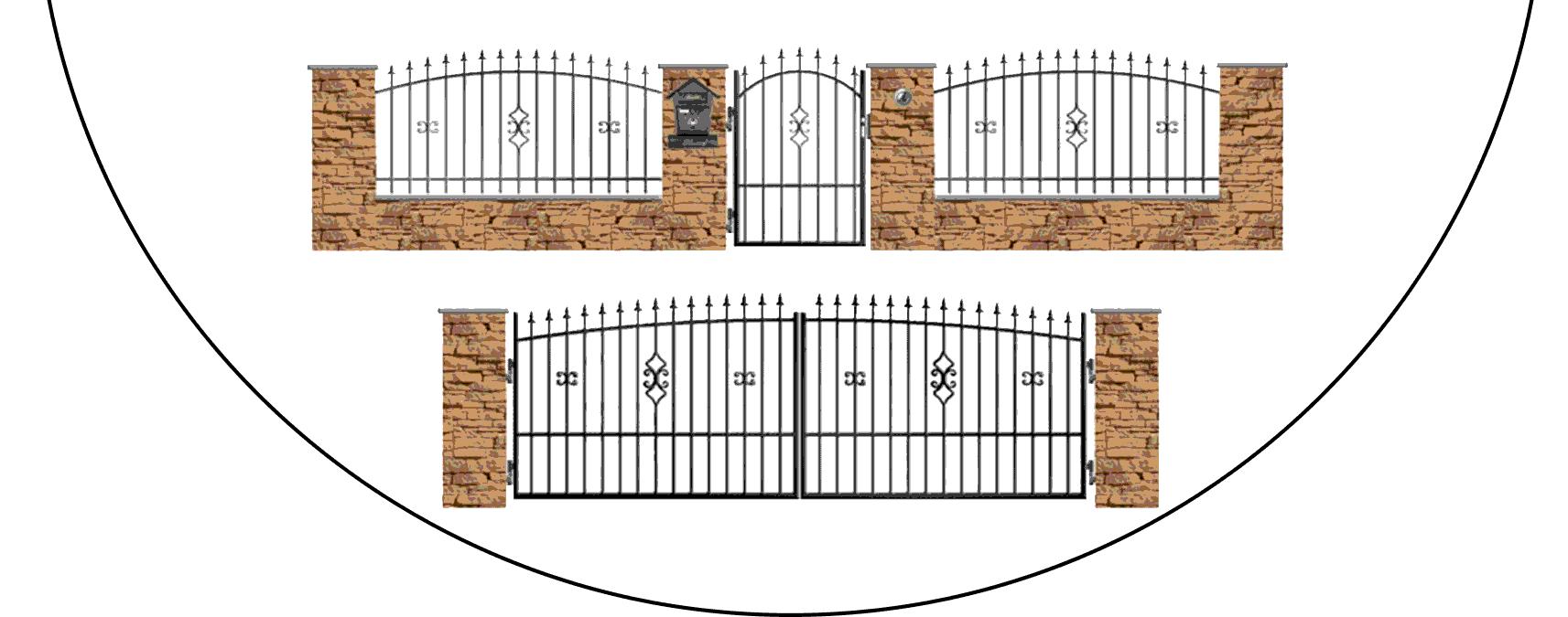 Zostava kovových plotov Z2
