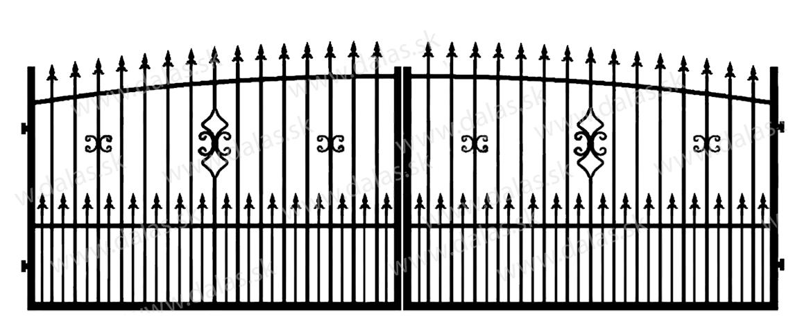 Kovová brána Z2+
