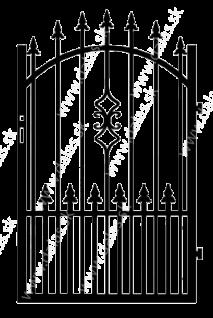 Kovová bránka Z2+