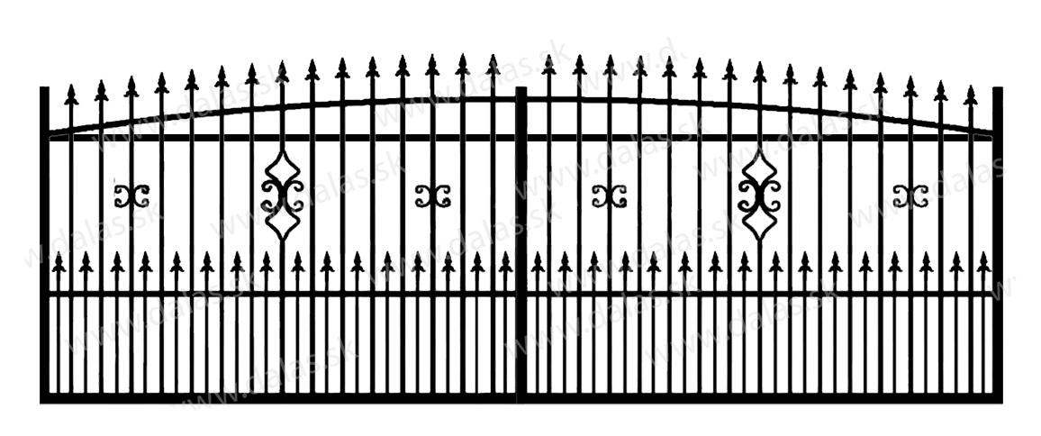Koľajová kovová brána Z2+