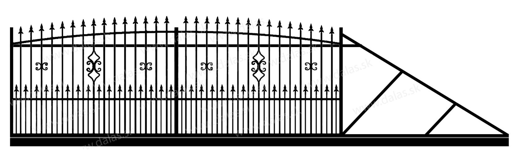 Samonosná posuvná kovová brána Z2+