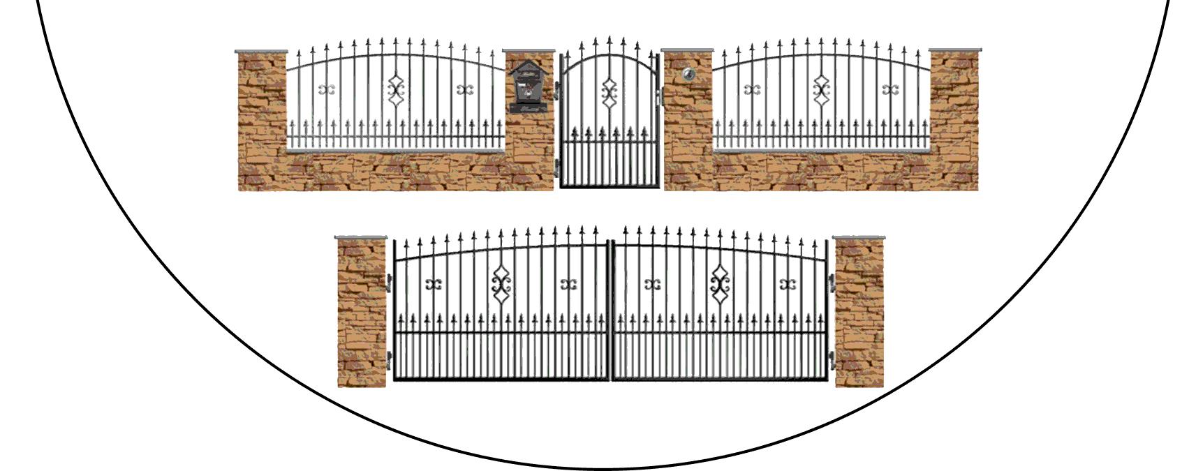 Zostava kovových plotov Z2+
