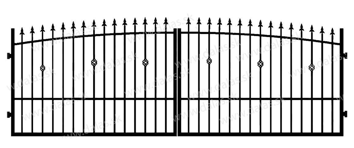 Kovová brána Z3