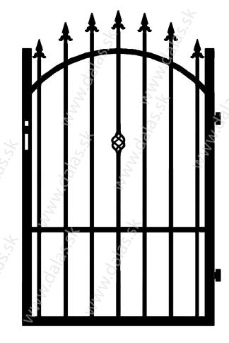 Kovová bránka Z3