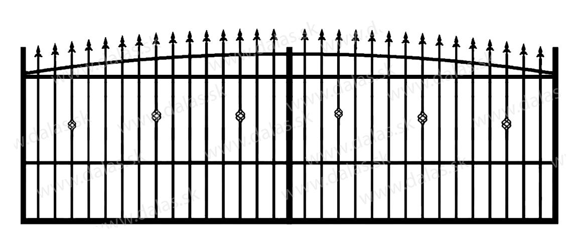 Koľajová kovová brána Z3