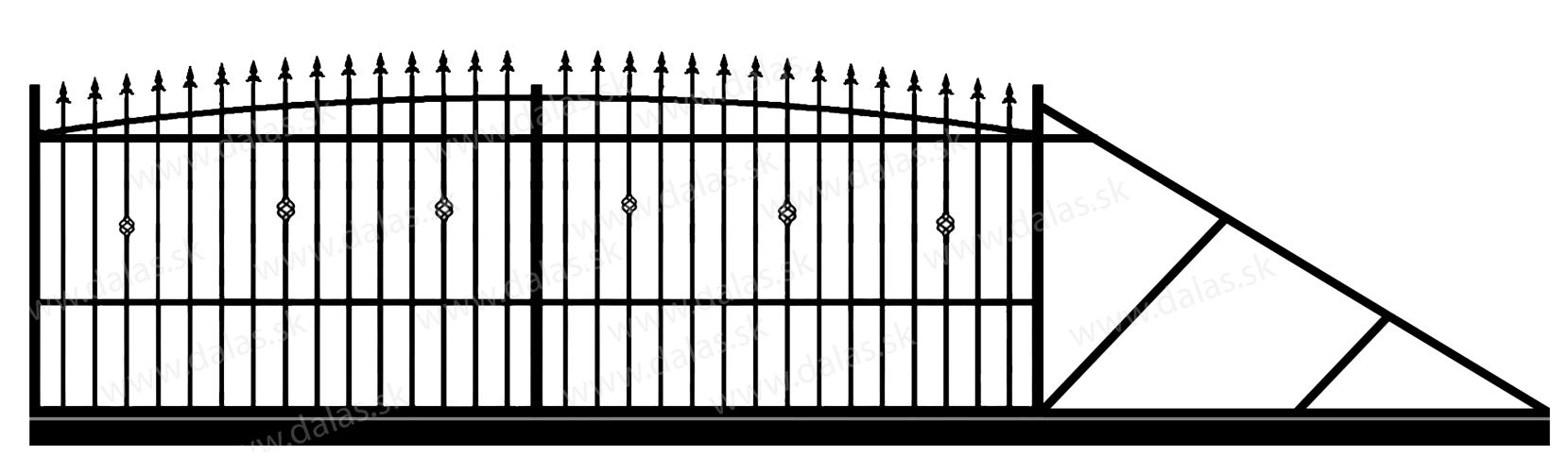 Samonosná posuvná kovová brána Z3