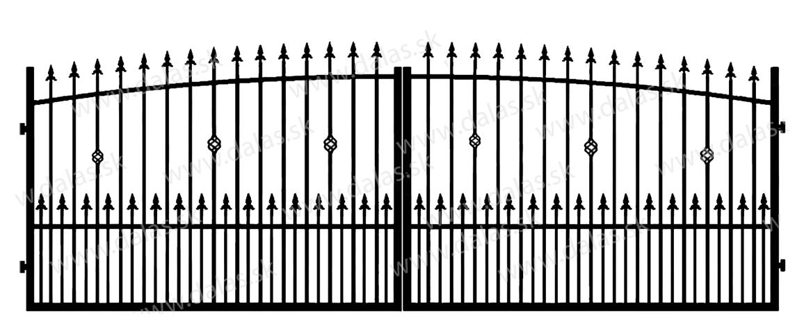 Kovová brána Z3+