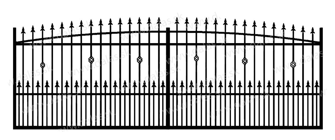 Koľajová kovová brána Z3+