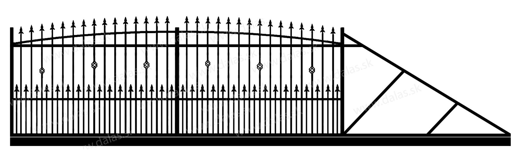 Samonosná posuvná kovová brána Z3+