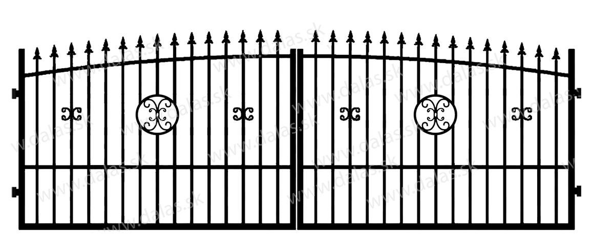 Kovová brána Z4