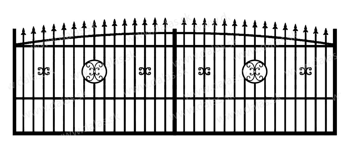 Koľajová kovová brána Z4