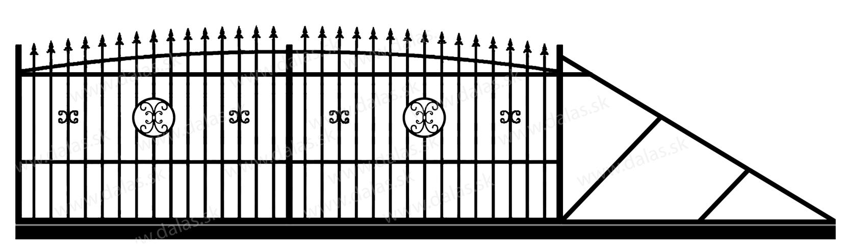 Samonosná posuvná kovová brána Z4