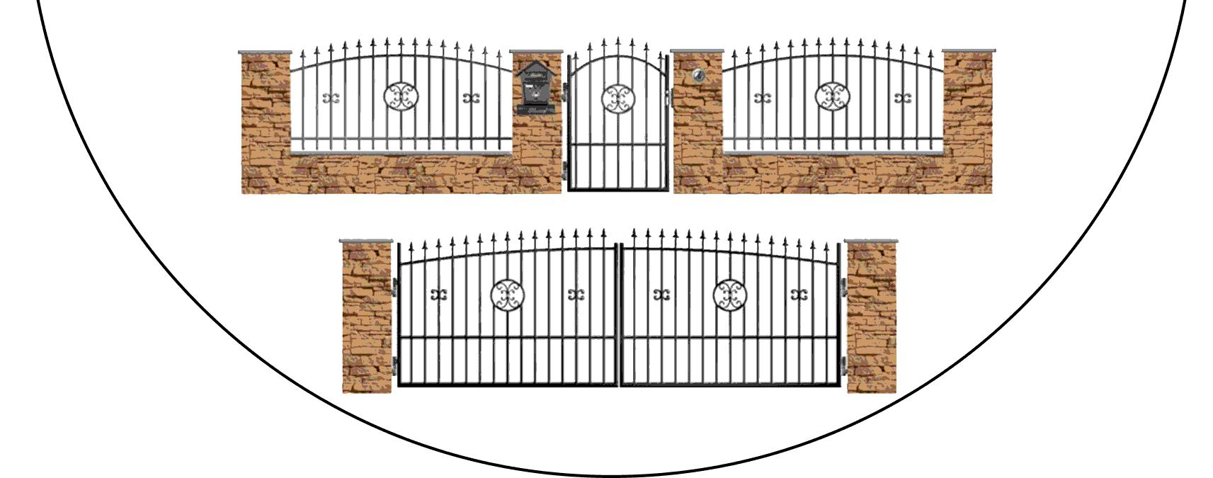 Zostava kovových plotov Z4