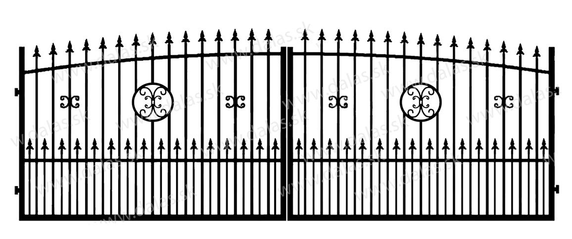 Kovová brána Z4+