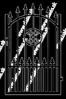 Kovová bránka Z4+