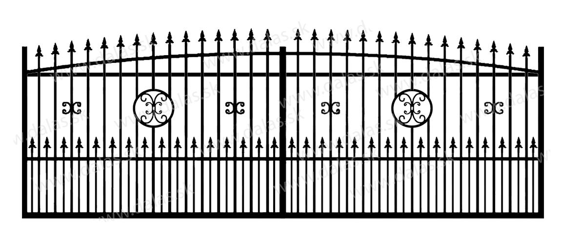 Koľajová kovová brána Z4+