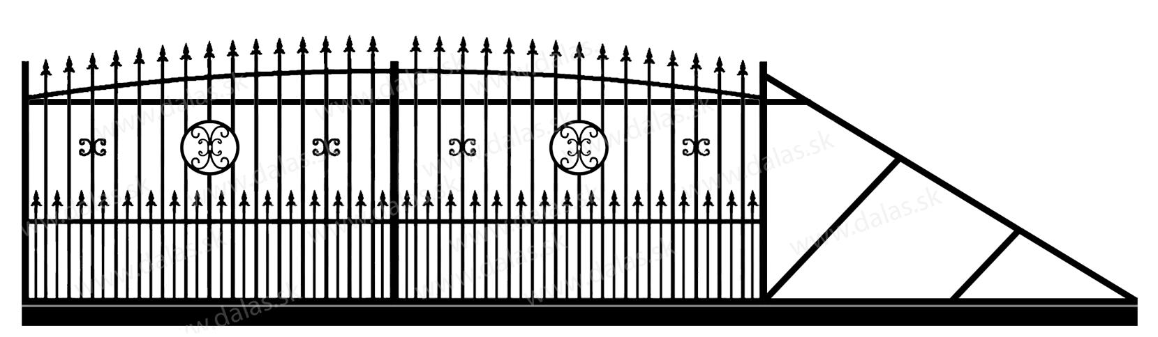 Samonosná posuvná kovová brána Z4+