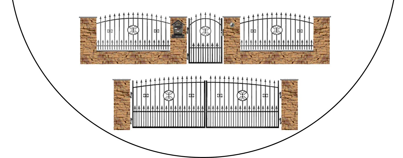 Zostava kovových plotov Z4+