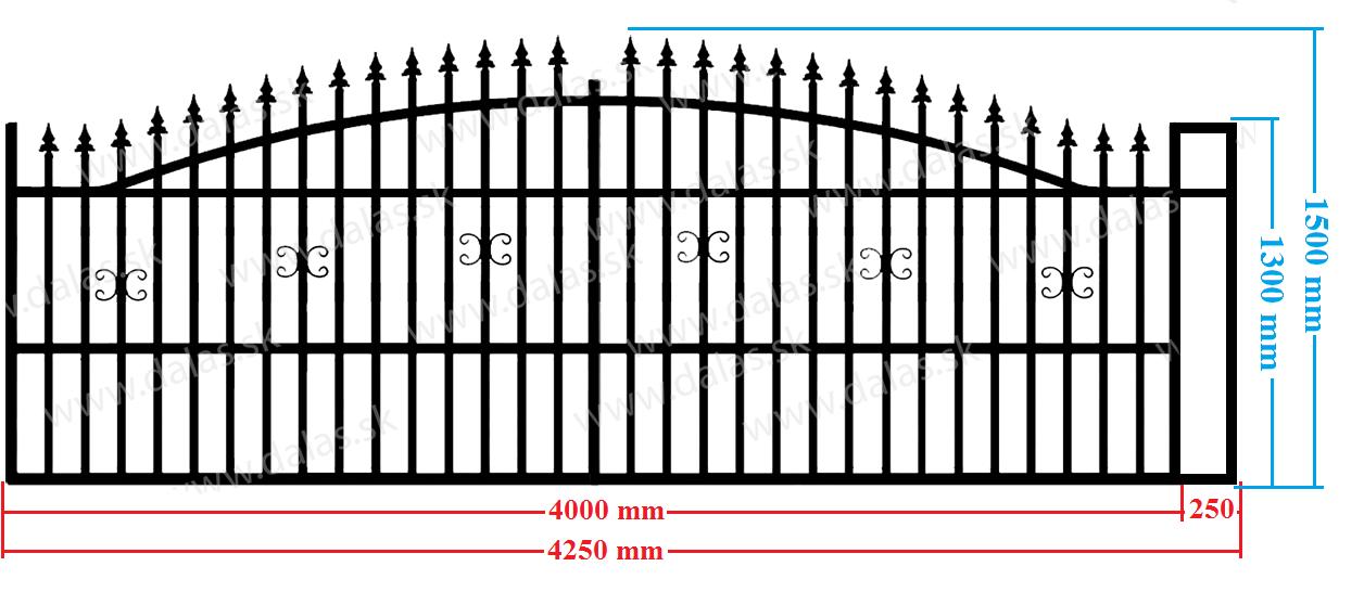 Koľajová samonosná brána A1