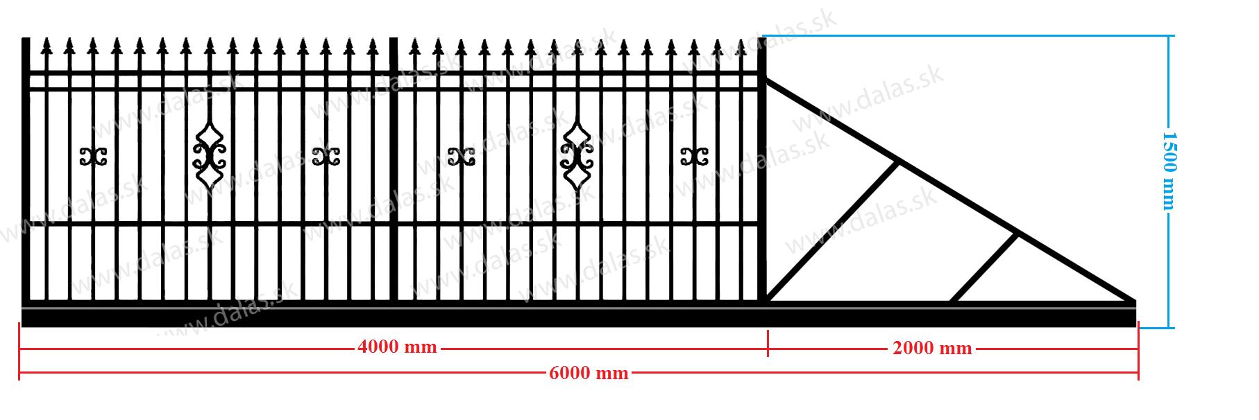 Samonosná posuvná brána