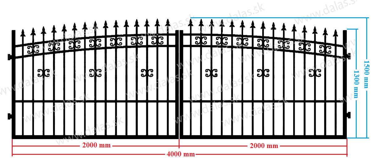 Dvojkrídlová brána
