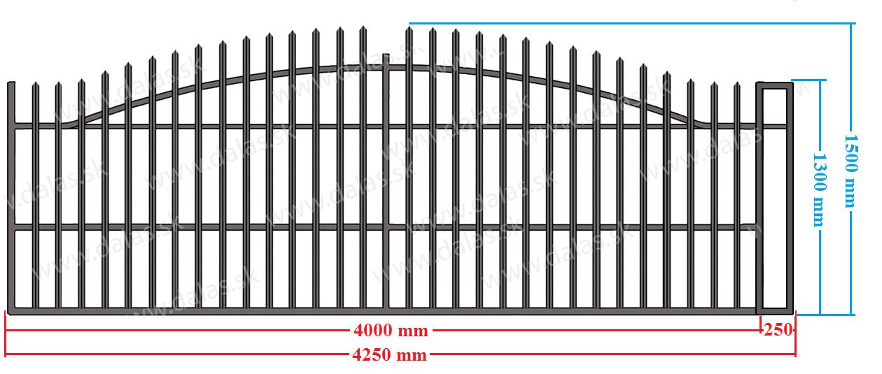 Koľajová samonosná brána