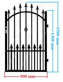 Kovová bránka